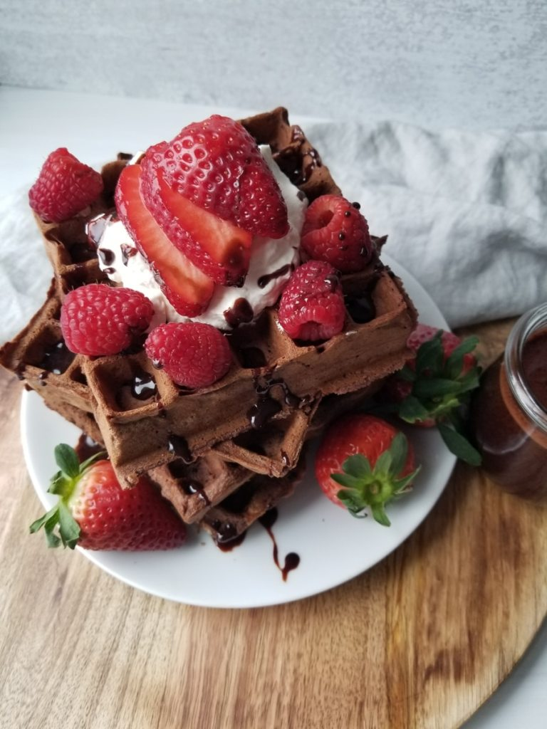 Decadent Chocolate Waffles recipe