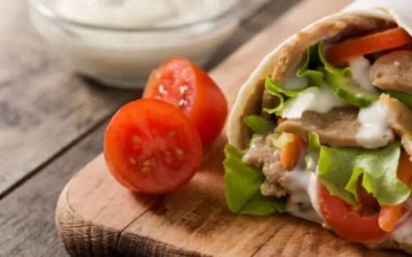 chicken veggie wrap, chicken wrap, healthy food