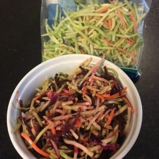 Fresh beet coleslaw