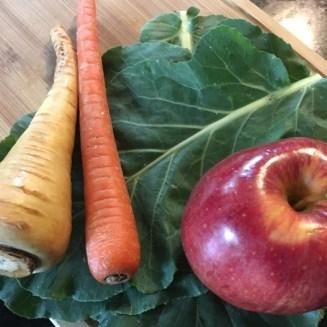 Fresh coleslaw ingredients
