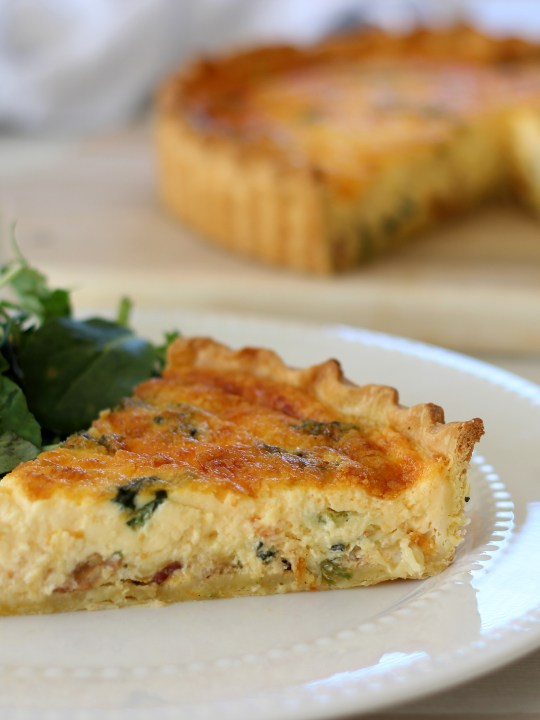 Bacon And Spinach Quiche Recipe Recipes By Carina