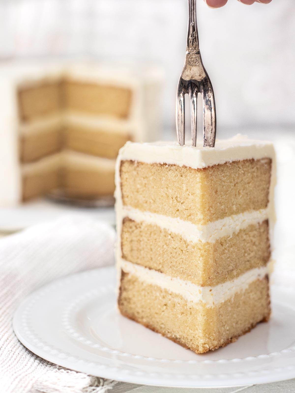 Slice of vanilla cake