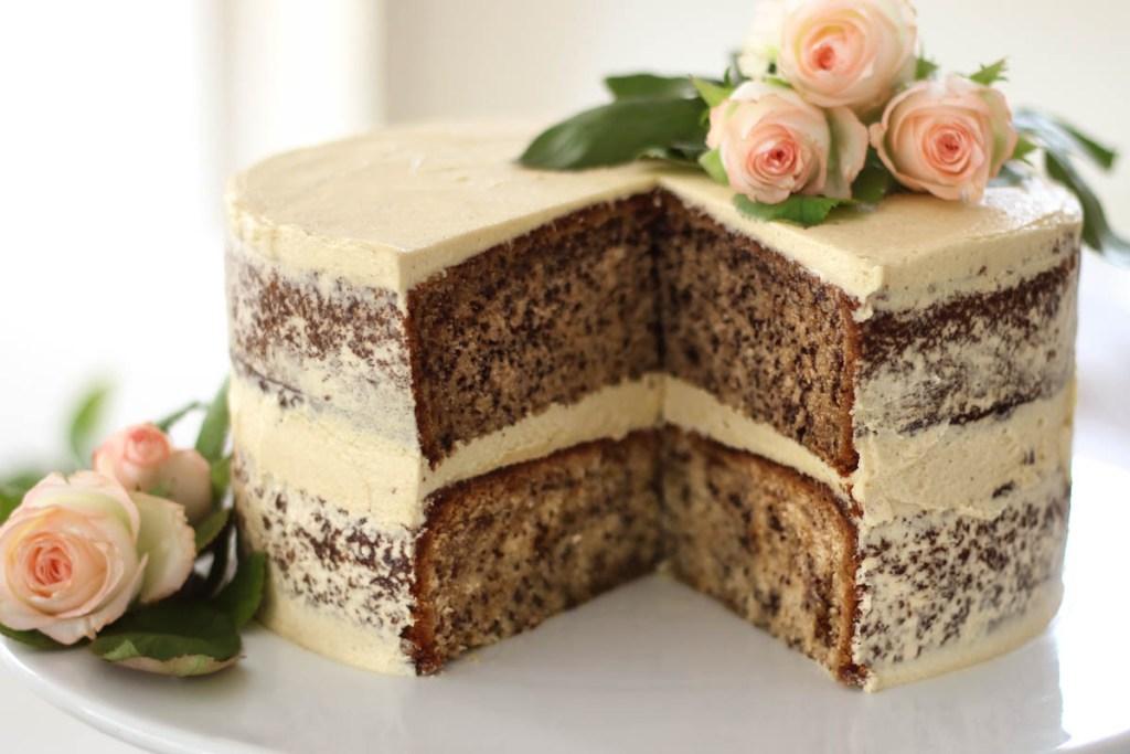 Banana Cake Recipe with Brown Sugar Buttercream