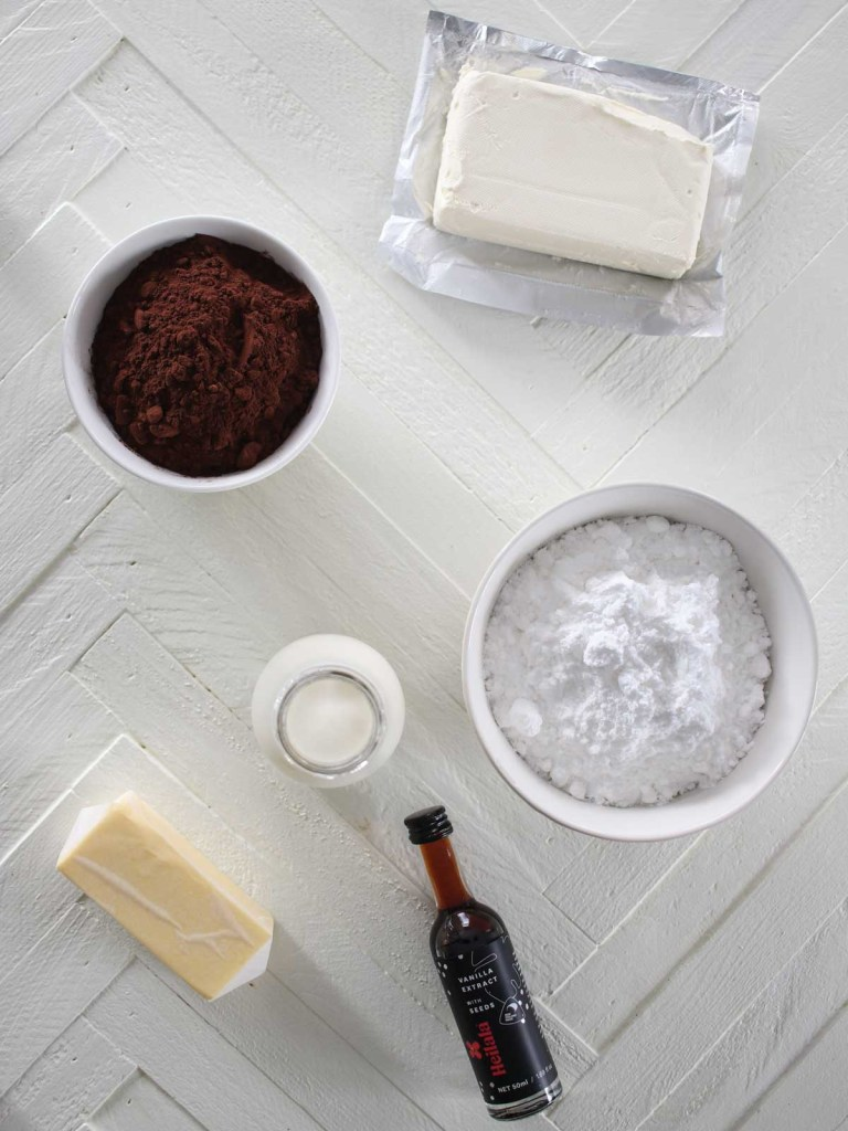 Chocolate Cream Cheese Frosting Ingredients
