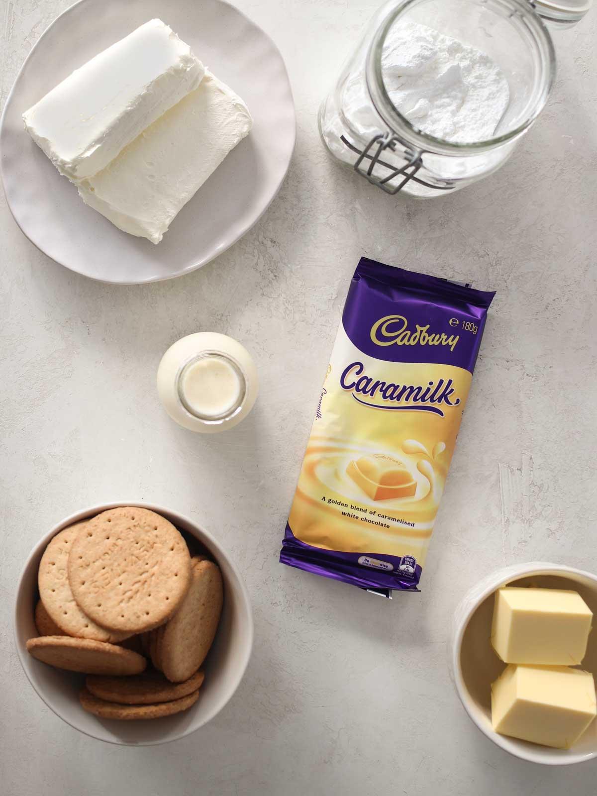 Caramilk Cheesecake Ingredients