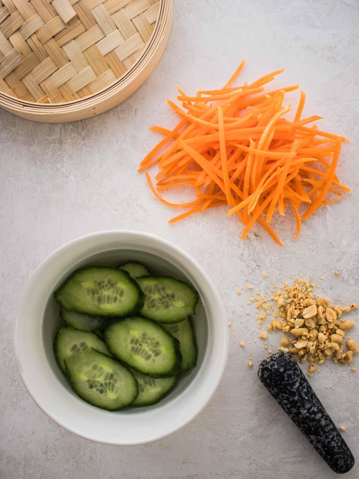 vegetables prepared