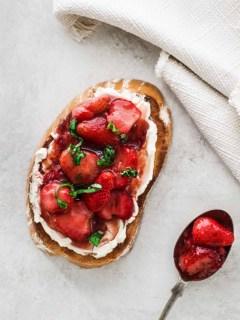 Strawberry Balsamic Toast