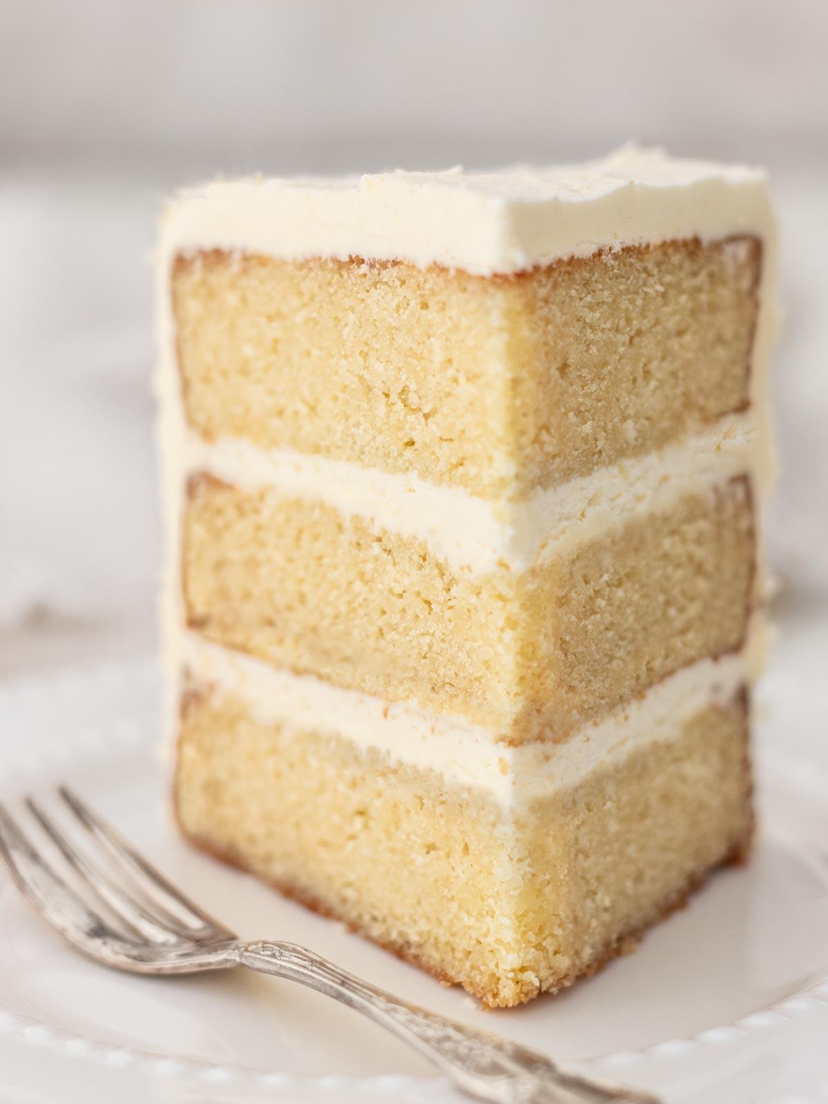 Vanilla Cake with Swiss Meringue Buttercream