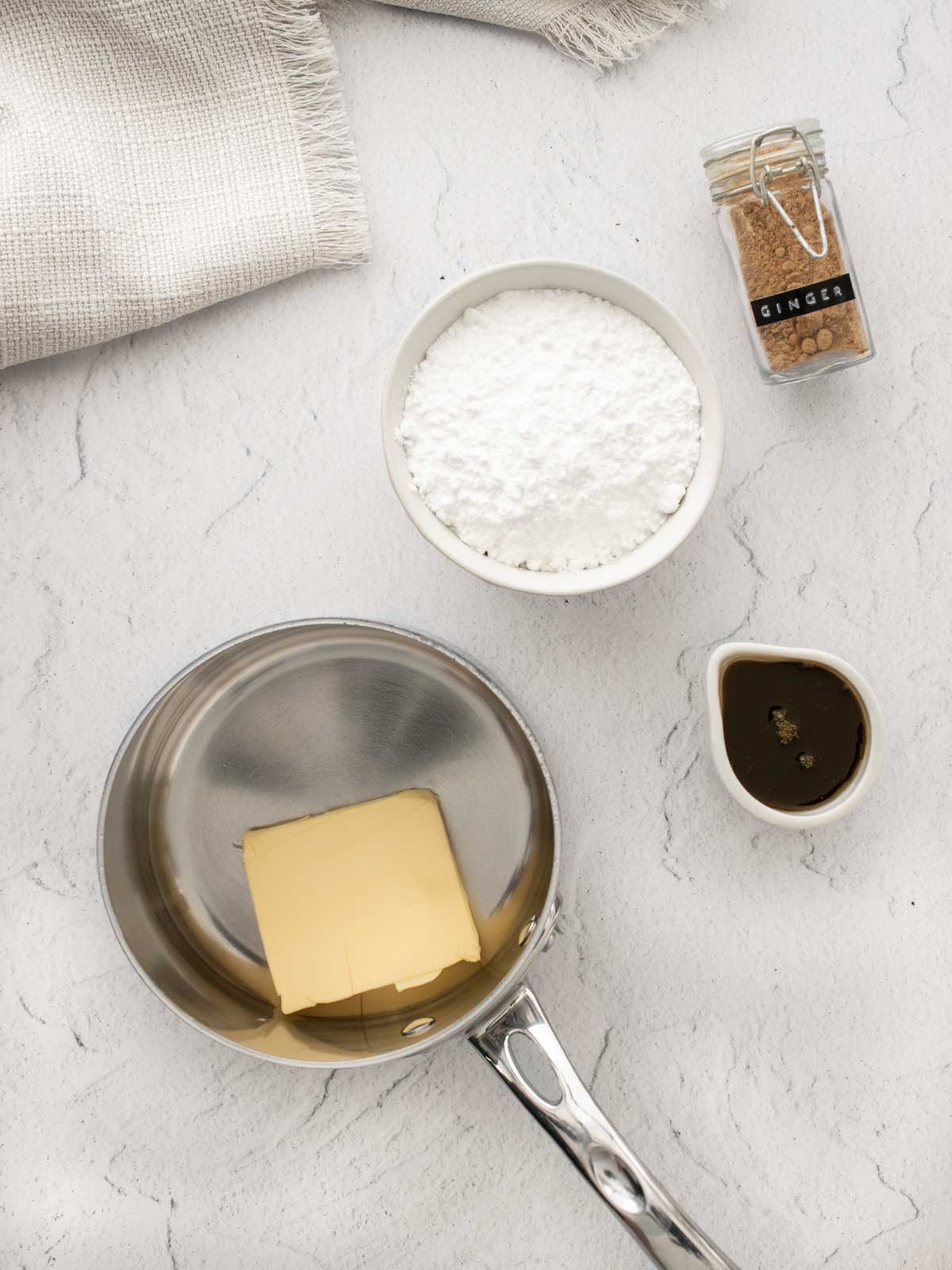 ginger crunch icing ingredients