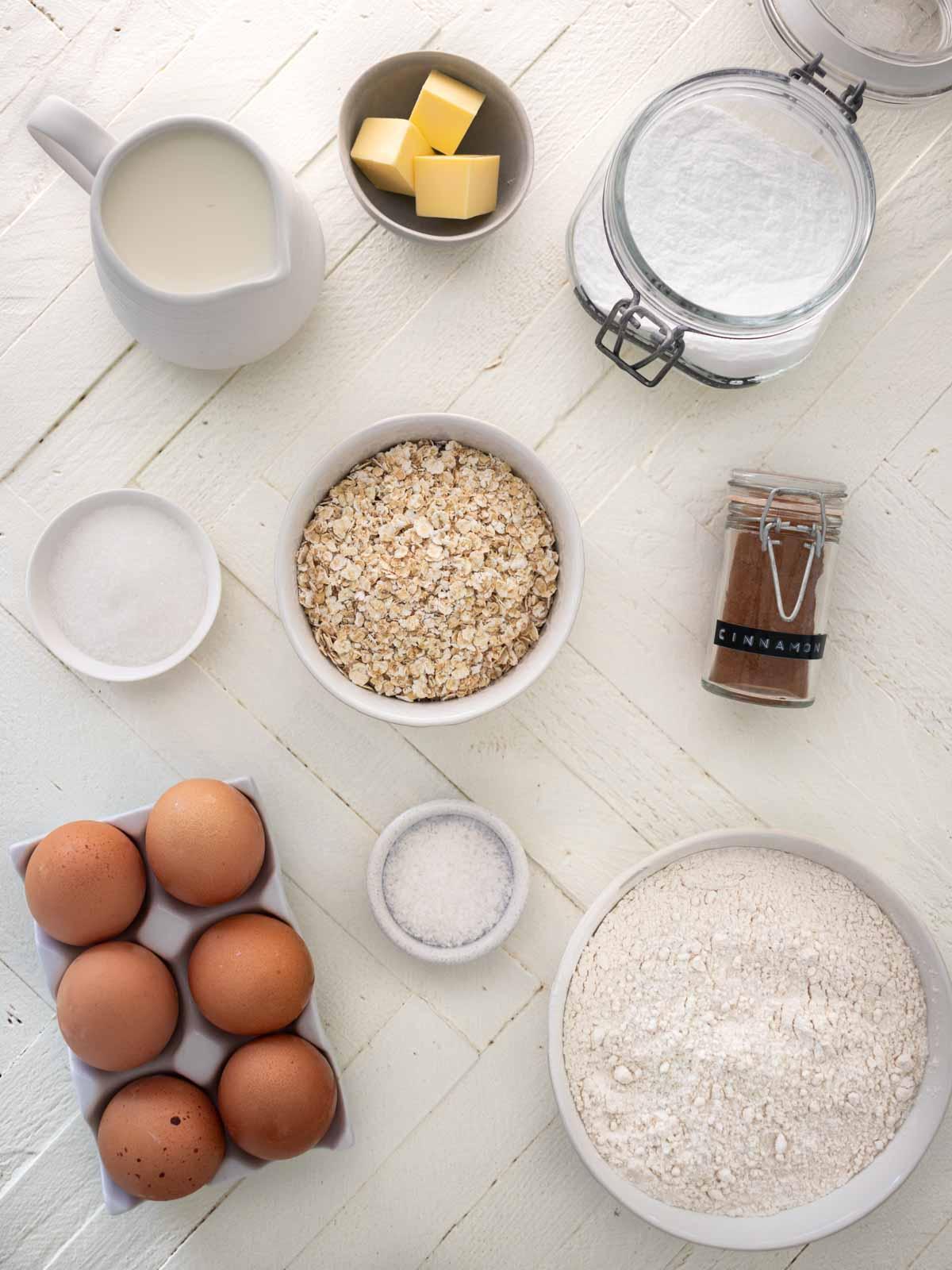 Oat Pancakes Ingredients