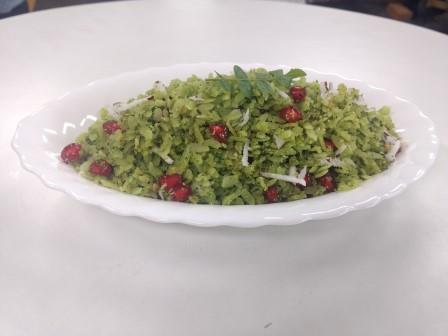 Hariyali Poha –  Greenery Flattened Rice