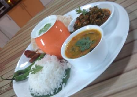 Thali-Full Meal-Dal Bhat-Dal Rice
