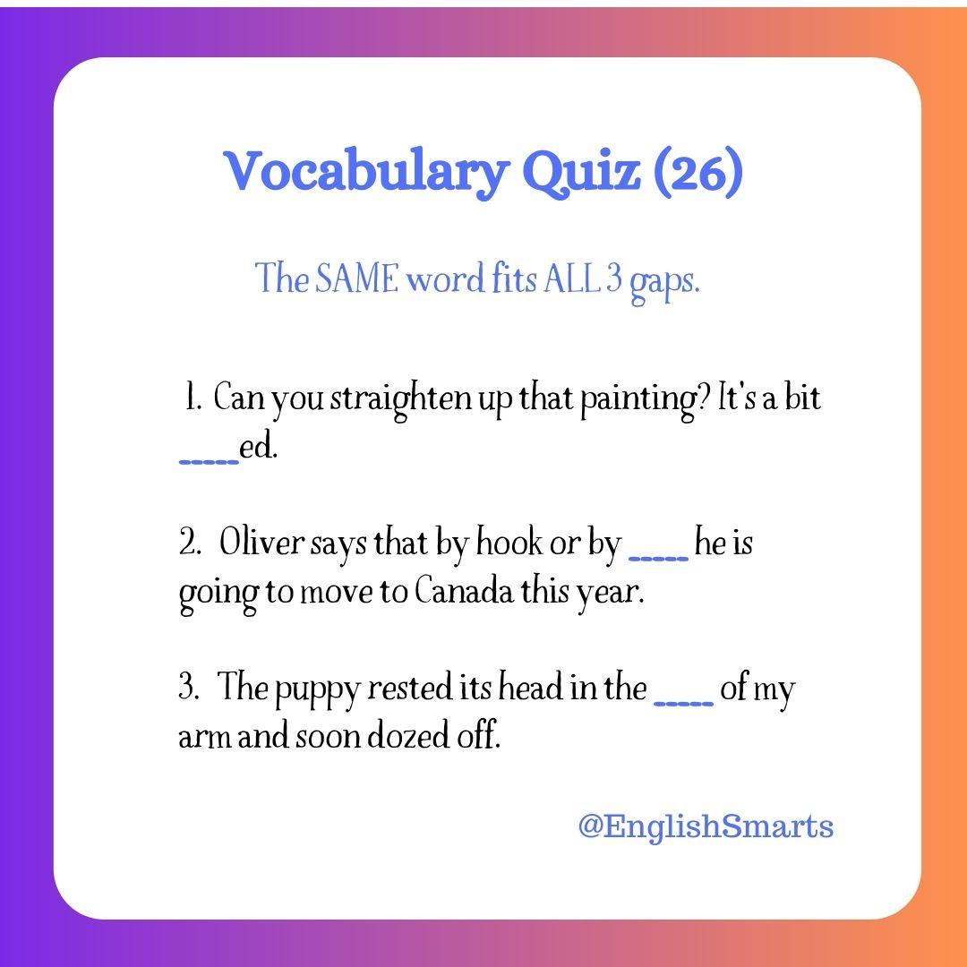 Quick Vocabulary Quiz (26)