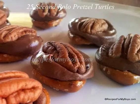 25 Second Rolo Pretzel Turtles