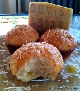 Asiago Green Chile Corn Muffins