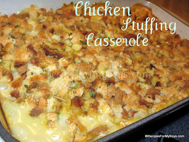 Chicken Stuffing Casserole