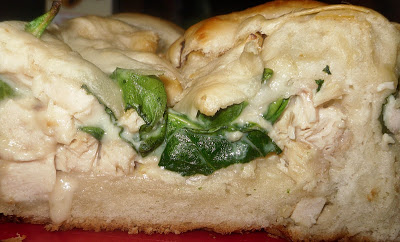 Chicken and Spinach Alfredo Bread