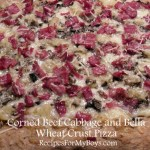 Corned Beef, Cabbage, Portobello Wheat Crust Pizza