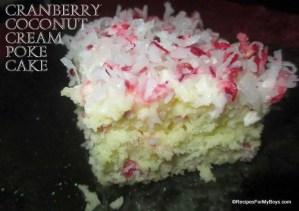 Cranberry Coconut Cream Poke Cake