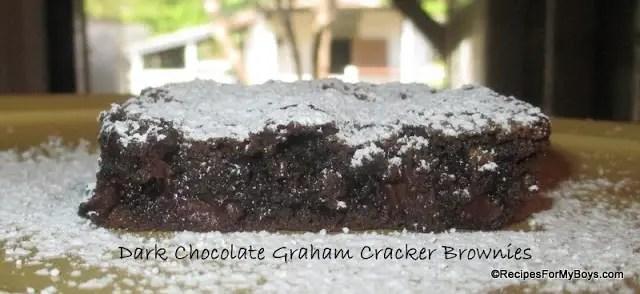 Dark Chocolate Graham Cracker Brownies