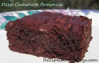 Deep Four Chocolate Brownies