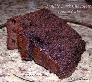 Double Dark Chocolate Pound Cake