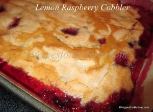 Lemon Raspberry Cobbler