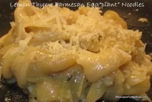 """Lemon Thyme Parmesan Egg """"plant"""" Noodles"""