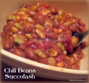 Microwave Chili Beans Succotash