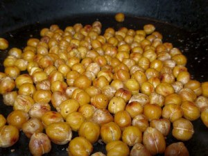 Pan Roasted Lime Garlic Pepper Pea Nuts