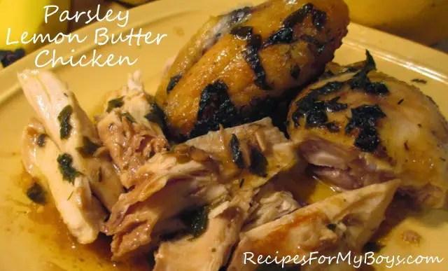Parsley Lemon Butter Chicken