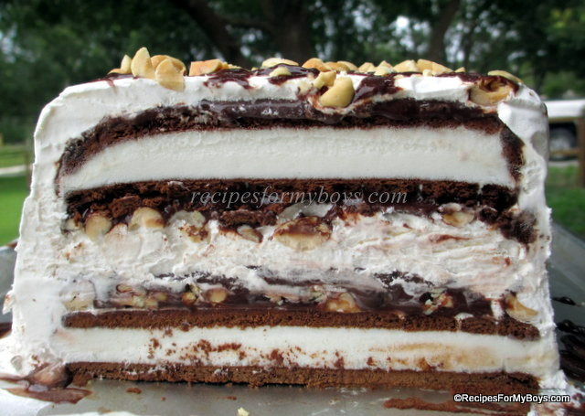 You are currently viewing Peanut Buster Ice Cream Sandwich Cake