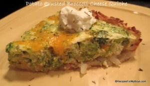 Read more about the article Potato Crusted Broccoli Cheese Quiche