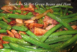 Southern Skillet Green Beans with Ham