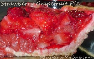 Strawberry Grapefruit Pie