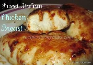 Sweet Italian Skillet Chicken Breasts