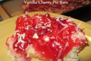 Vanilla Cherry Pie Bars
