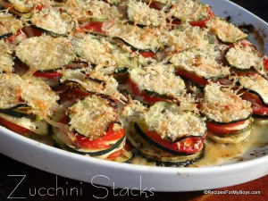 Baked Parmesan Zucchini Stacks