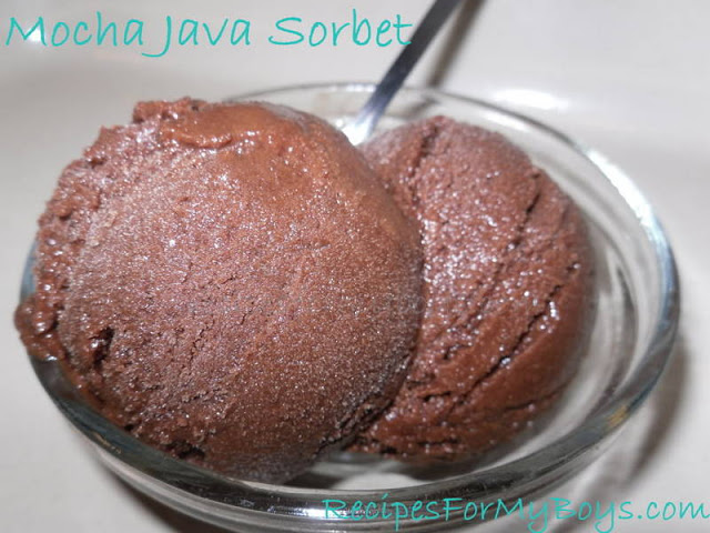Mocha Java Sorbet Made In Freezer