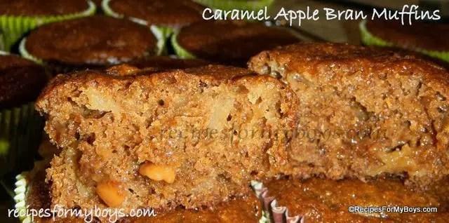 Caramel Apple Bran Muffins