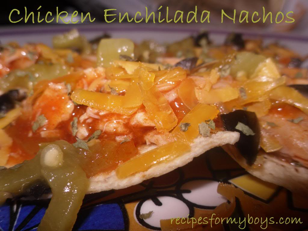 Easy Chicken Enchilada Nachos