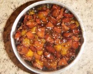 Sausage and Peach Jam