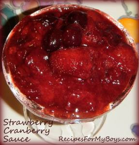 Strawberry Cranberry Sauce