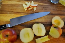 Coring the apples (use a spoon to remove any pesky bits of core)