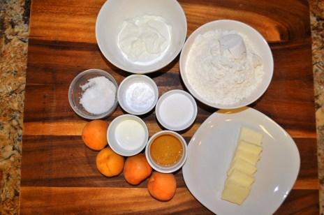 Apricot Greek Yogurt Scones - Ingredients