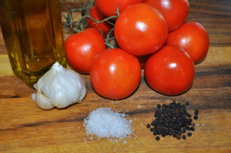 Olive Oil Preserved Roasted Tomatoes and Garlic - Ingredients