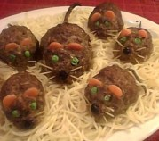 %name   Halloween Meatloaf Mice   RecipesNow.com