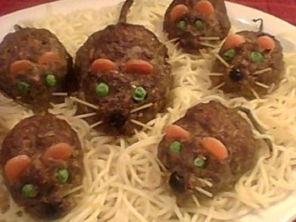 Halloween Meatloaf Mice
