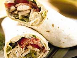 Mediterranean Grilled Chicken Wrap