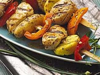 Garlic And Olive Oil Chicken Kabobs